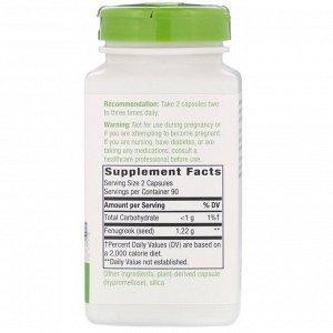 Nature&#x27 - s Way, Fenugreek Seed, 1,220 mg, 180 Vegan Capsules