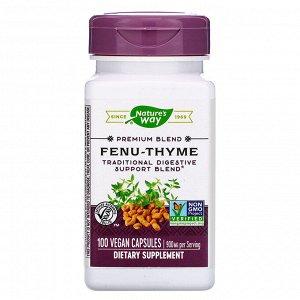 Nature&#x27 - s Way, Fenu-Thyme, 900 mg, 100 Vegan Capsules