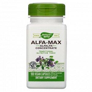 Nature&#x27 - s Way, Alfa-Max, Alfalfa Concentrate, 840 mg, 100 Vegan Capsules