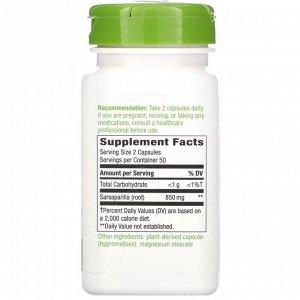 Nature&#x27 - s Way, Sarsaparilla Root, 850 mg, 100 Vegan Capsules