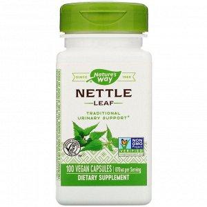 Nature&#x27 - s Way, Лист крапивы, 870 мг, 100 веганских капсул