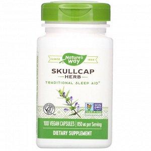 Nature&#x27 - s Way, Skullcap Herb, 850 mg, 100 Vegan Capsules