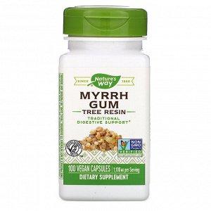 Nature&#x27 - s Way, Myrrh Gum, Tree Resin, 1,100 mg, 100 Vegan Capsules