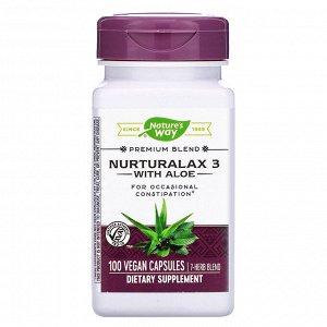Nature&#x27 - s Way, Nurturalax 3 with Aloe, 100 Vegan Capsules