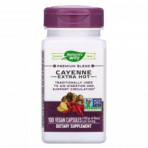 Nature&#x27 - s Way, Cayenne Extra Hot, 100 Vegan Capsules