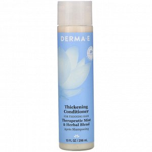 Derma E, Thickening Conditioner, Therapeutic Mint & Herbal Blend, 10 fl oz (296 ml)