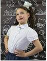 Блузка 6t119 для девочки белая