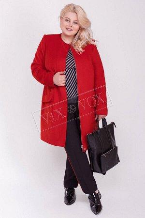 Пальто кашемированное красное