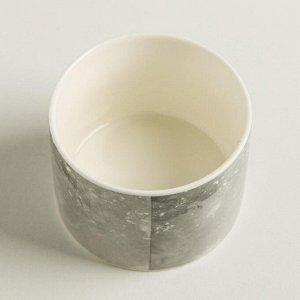 Керамический белый горшок «Сердце». 8 х 5.5 см