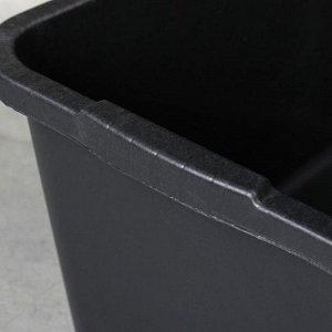 Таз строительный прямоугольный, 40 л, пластик