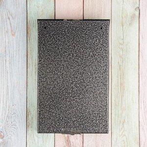Ящик почтовый без замка (с петлёй), вертикальный, «Фото», МИКС, серебристый