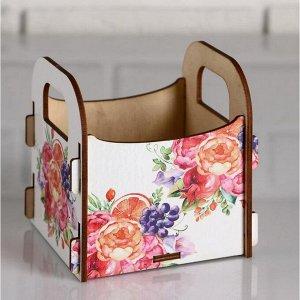 """Кашпо деревянное 10.5?10?11 см подарочное Рокси Смит """"Маме! Цветы"""", коробка"""