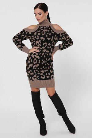 Платье леопардовое VPA0006