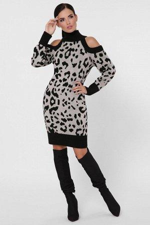 Платье леопардовое VPA0003