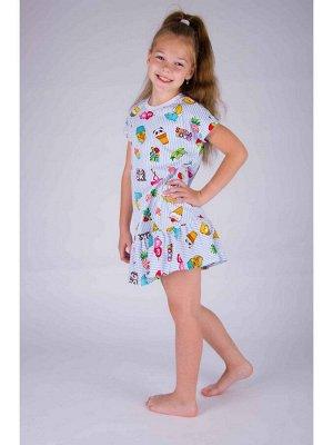 Платье Количество в упаковке: 1; Артикул: МАЛ-ПЛД-01; Ткань: Кулирка; Состав: 100% Хлопок; Цвет: Разноцветный Скачать таблицу размеров                                                 Платье детское т