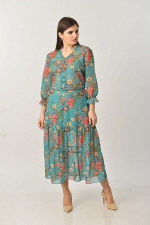 Платье с ремнем ELGA 01-656