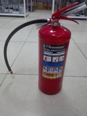 Огнетушитель порошковый 4кг ОП-4(3)-ABCE-01  с манометром