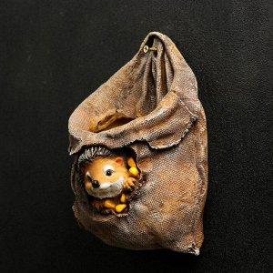 """Фигурное кашпо """"Ежик в мешочке с кукурузой"""" 10х15х20см"""