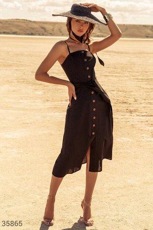 Лаконичный сарафан черного цвета