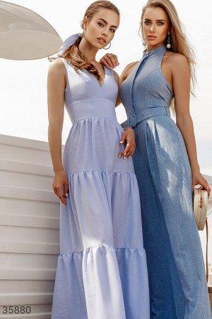 Платье-макси с объемной юбкой