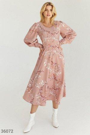 Нежное романтичное платье-миди