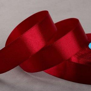 Лента атласная, 25 мм ? 33 ± 2 м, цвет бордовый №048