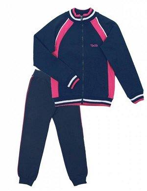 Костюм Для Девочки 9655 (Куртка, Брюки) т. синий
