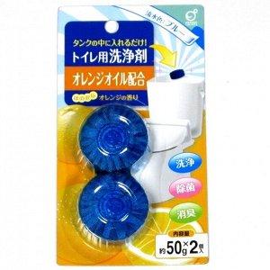 "234726 ""Okazaki"" Очищ. и дезод. таблетка ... окраш. воду в голубой цвет (аром. лаванды) 50гр*2  1/80"