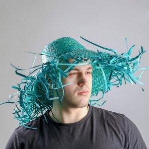 Карнавальная шляпа «Солома», цвет зелёный