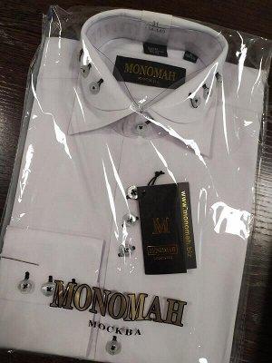 Рубашка Рубашка белая с пуговицами, длинный рукав.  Хлопок 90%, ПЭ 10%