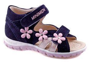 Туфли открытые Minimen, артикул 1533-14-8A_04, цвет синий, розовый, материал кожа нат
