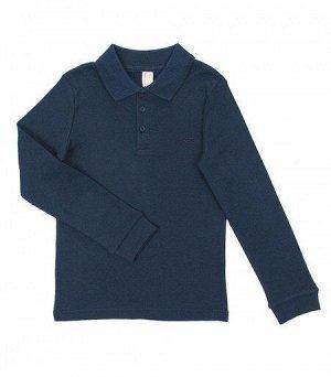 Рубашка 61374 для мальчика т. синяя