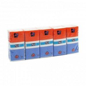 Платочки бумажные носовые bella №1, спайка 10 упаковок по 10шт, bella, 100шт