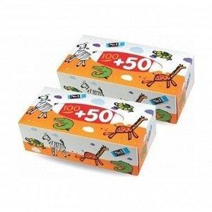 Платочки бумажные универсальные зебра, bella 100+50%