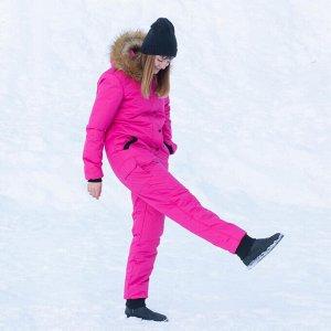 Женский зимний комбинезон, цвет фуксия.