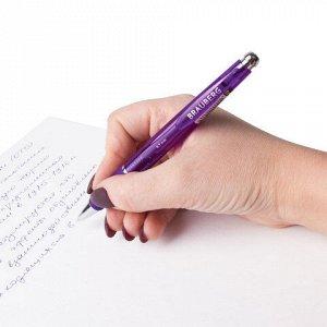 """Ручка шариковая автоматическая с грипом BRAUBERG """"Leo"""", корпус ассорти, узел 0,7 мм, линия письма 0,35 мм, 140591"""