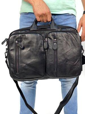 Мужская кожаная бизнес сумка - РЮКЗАК