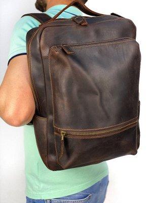Рюкзак кожаный, унисекс. В наличии.