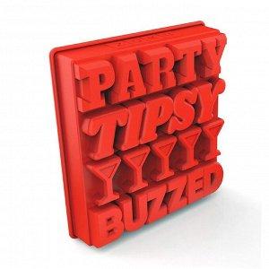 Форма для льда Party, красная 4780073