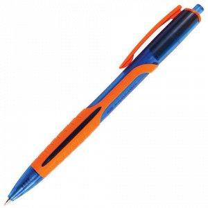 """Ручка шариковая масляная автоматическая BRAUBERG """"Phantom color"""", СИНЯЯ, узел 0,7 мм, линия письма 0,35 мм, 142938"""