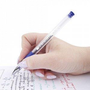 Ручки гелевые с грипом STAFF, НАБОР 4 шт., АССОРТИ, узел 0,5 мм, линия письма 0,35 мм, 141826