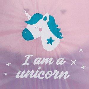 """Дождевик - пончо """"I am a unicorn"""", универсальный размер, 150 х 150 см"""