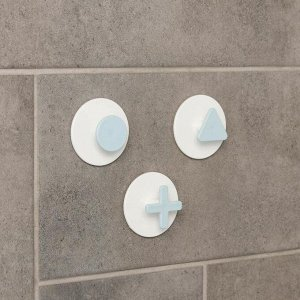 Набор крючков на липучке «Знаки», 3 шт, цвет МИКС