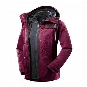 Куртка для путешествий 3 в 1 женская TRAVEL 100  FORCLAZ