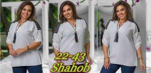 Блузка женская в размер. Ткань креп шифон.