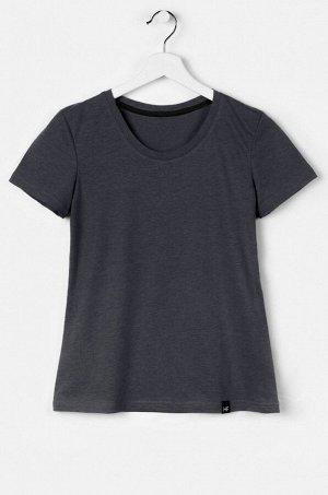 Базовая однотонная женская футболка