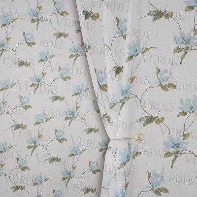 2- Шторы и ткани  шторные — Имитация льна с рисунком — Ткани