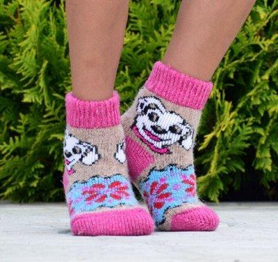Уютные носочки и варежки из 100% шерсти — Детские носки — Носки и гольфы