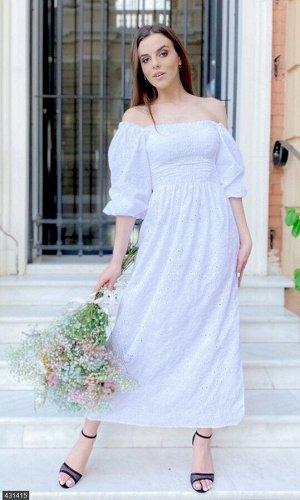 Платье 431415 белый Лето Украина