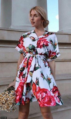 Платье 431336 белый Лето Украина